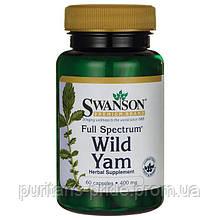 Дикий Ямс, SWANSON FULL SPECTRUM WILD YAM 400MG 60 CAPS