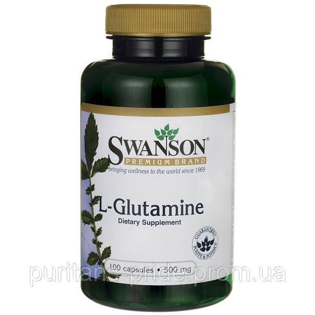 Глютамін амінокислоти SWANSON L-GLUTAMINE 500 MG 100 CAPS