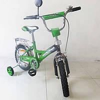 Велосипед детский двухколесный 14 дюймов TILLY  21414 зеленый+черный
