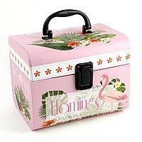 Кейс коробка Фламинго 17 x 14 x 14.8 см, фото 1