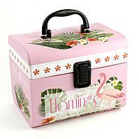Кейс коробка Фламинго 17 x 14 x 14.8 см