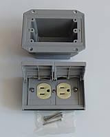 Pass & Seymour ( Legrand ) розетка NEMA ( американский стандарт) с монтажным коробом для уличной инсталляции., фото 1