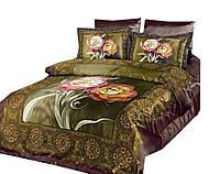 Комплект постельного белья ARYA шелк Infisso евро- 4 наволочки