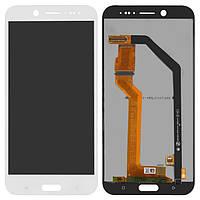 Дисплей HTC 10 Evo белый (LCD экран, тачскрин, стекло в сборе)