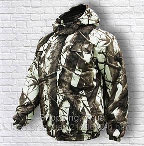 Костюм для охоты и рыбалки зимний мембранный Клен белый полукомбинезон и куртка Alova Алова