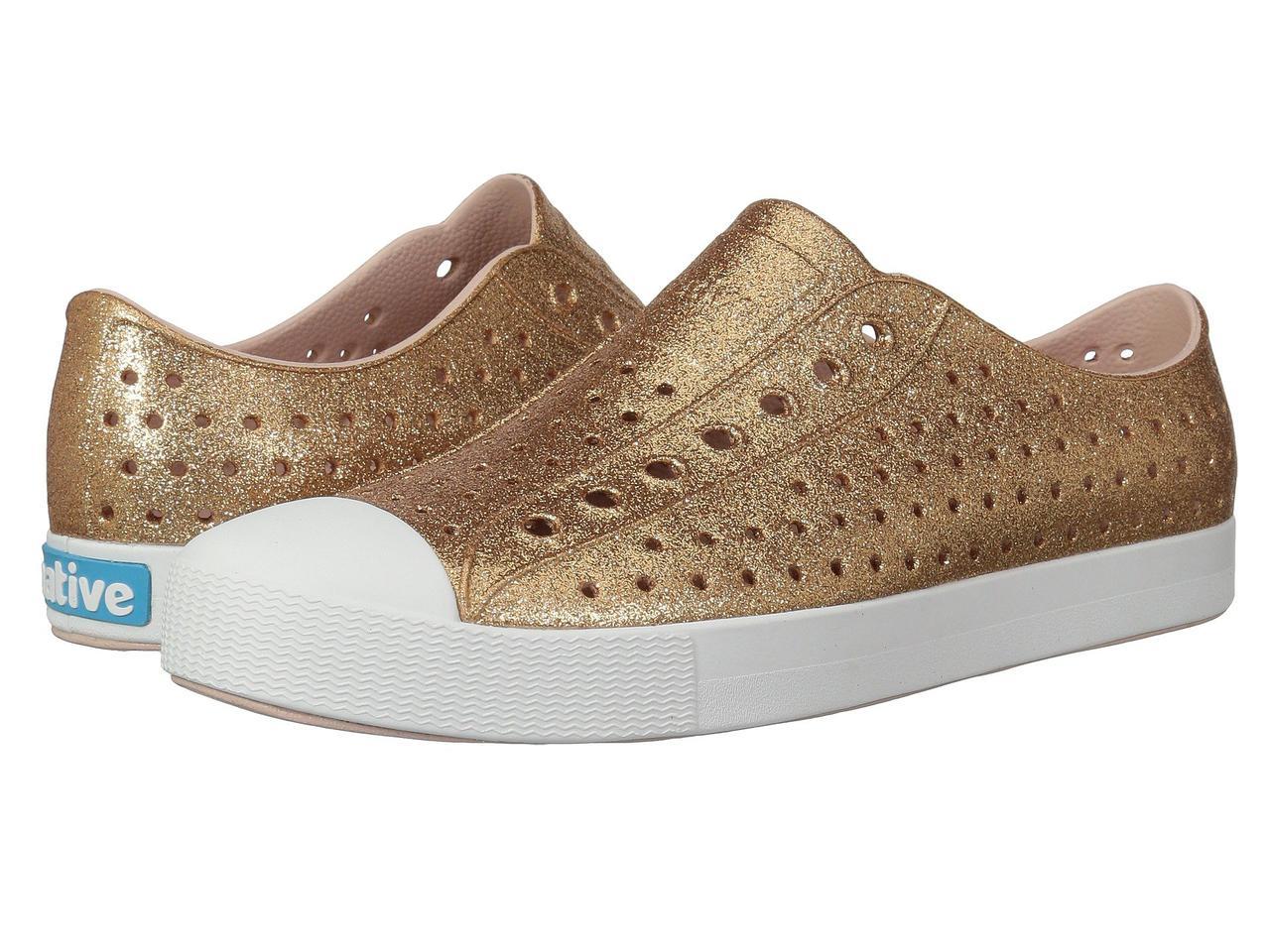 Кроссовки/Кеды (Оригинал) Native Shoes Jefferson Bling Rose Gold Bling/Shell White