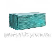 Полотенца бумажные, V - сложения, 1-но слойные, зелёные, 160 листов/уп