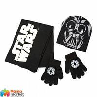 Комплект шапка, шарф и перчатки Disney Star Wars (Звездные войны) Arditex, цвет черный