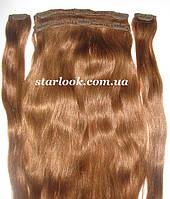Натуральные славянские волосы на заколках 65 см. Оттенок №8а. Масса: 110 грамм., фото 1