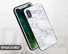 Силиконовый чехол для Huawei P10 Plus (Белый мрамор), фото 2
