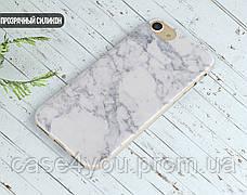 Силиконовый чехол для Huawei P10 Plus (Белый мрамор), фото 3