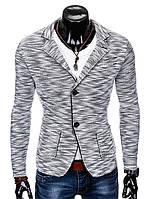 Мужской Мужской кэжуал пиджак P89 - grey M, Серый