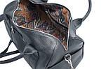 Кожаная сумка VS83  black 33х21х19 см, фото 4