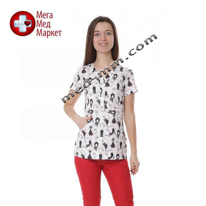 Медицинская куртка женская Бали Коты №1119
