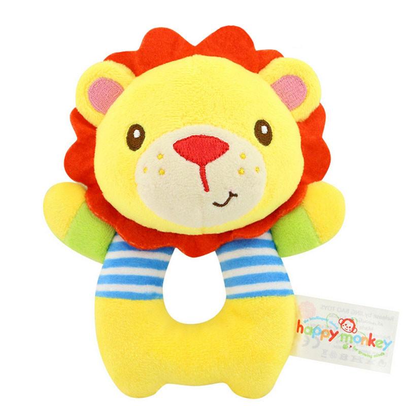 Мягкая игрушка - погремушка Лев Happy Monkey