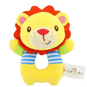 Мягкая игрушка - погремушка Лев Happy Monkey (43574)