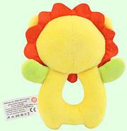 Мягкая игрушка - погремушка Лев Happy Monkey, фото 3