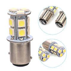 Светодиодная лампа цвет желтый 1157 BAY15D 13 SMD 5050