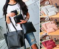 Женская большая молодежная сумка с кошельком Sharon