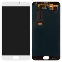 Дисплей для мобильного телефона Meizu MX5, белый, с сенсорным экраном,