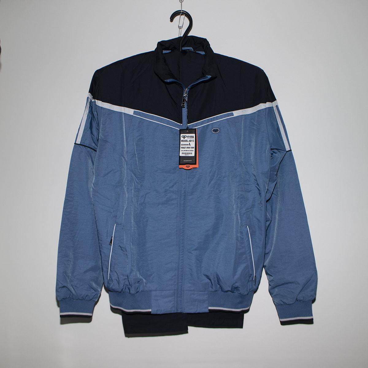 Чоловічий синій спортивний костюм плащівка під гумку Туреччина 4013