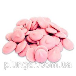 Глазурь кондитерская розовая в дисках с клубничным вкусом, Украина, цена за 100 г
