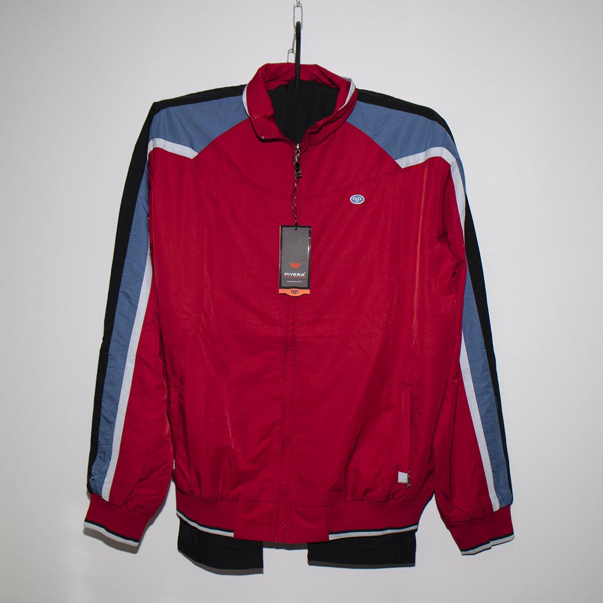 Мужской красный спортивный костюм плащевка под резинку Турция 4024