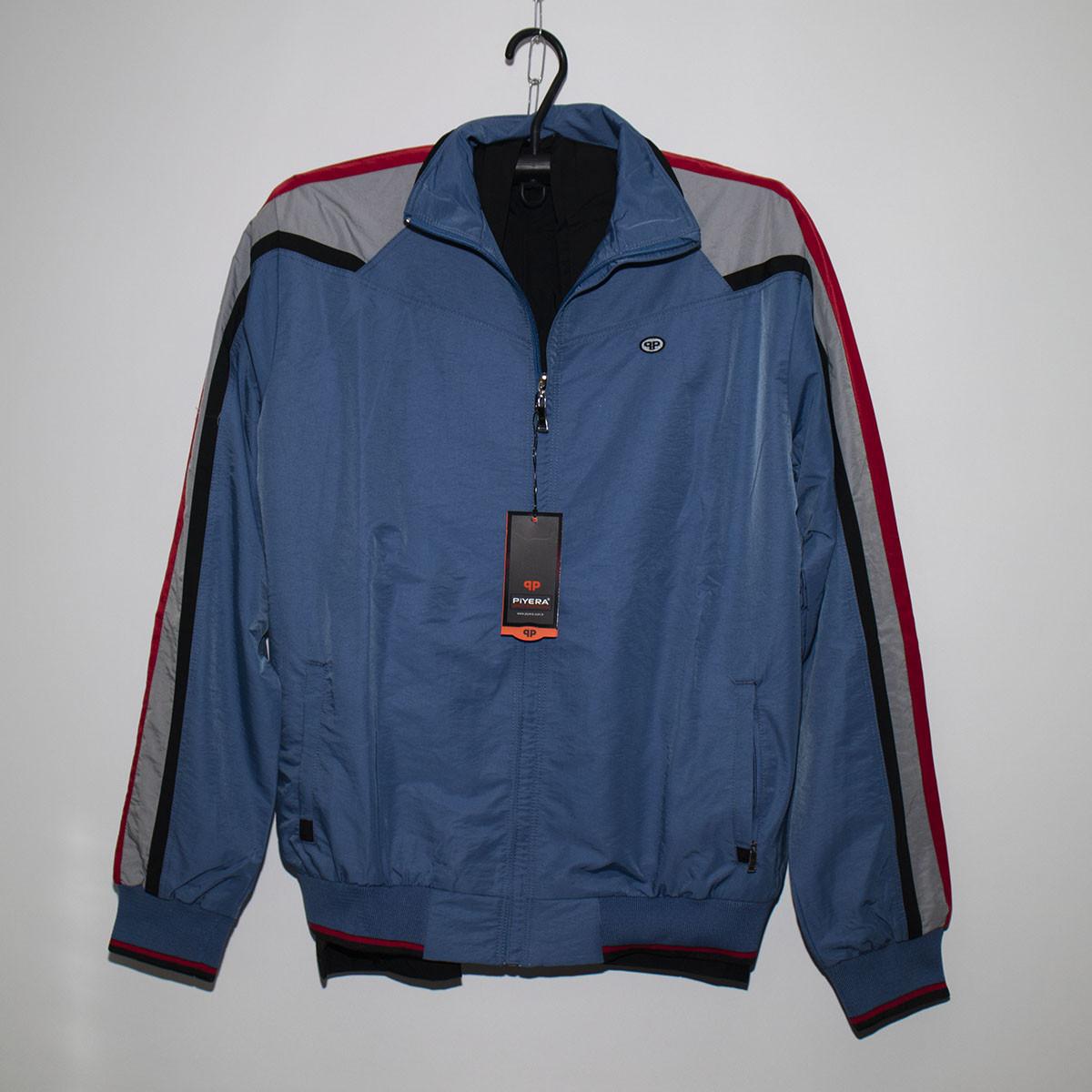 Мужской синий спортивный костюм плащевка под резинку Турция 4024