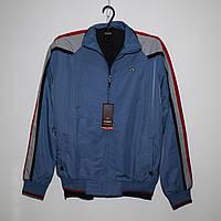 Мужской синий спортивный костюм плащевка под резинку Турция 4024, фото 1