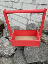 Ящик дерев'яний декоративний з ручкою .