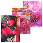 Пакеты Подарочные Пластиковые с Розами HL-E620 17 см * 12 см * 5,5 см (малый), фото 4