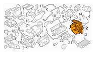 Корпус печки (вентилятор, правая часть) Nissan Leaf ZE0 (10-13) 27122-1FC0D