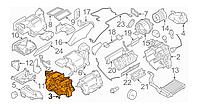 Корпус печки (кондиционер, левая часть) Nissan Leaf ZE0 (10-13) 27122-1FD0B