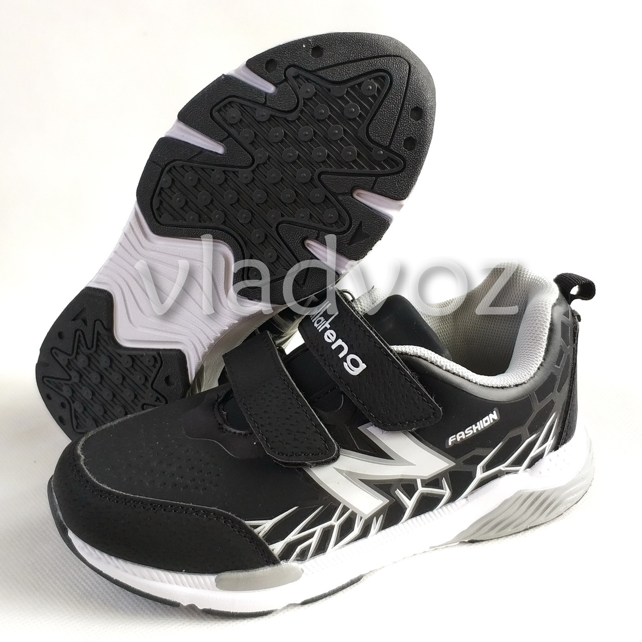 abe75850 Кроссовки для мальчика черные с белым KLF 36р., цена 400 грн ...