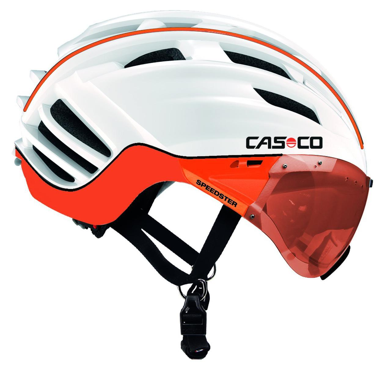 Велошлем Casco SPEEDster-TC Plus white-orange