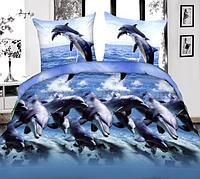 Двуспальное постельное белье полиСАТИН 3D (поликоттон) 85033