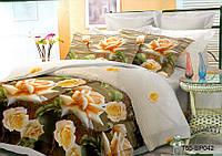 Двуспальное постельное белье полиСАТИН 3D (поликоттон) 85042