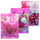 Пакеты Подарочные Пластиковые с Розами HL-E620 17 см * 12 см * 5,5 см (малый), фото 2