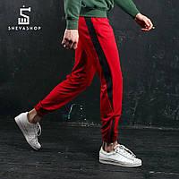 Спортивные штаны с лампасами мужские ТУР Rocky, красные