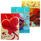 Пакеты Подарочные Пластиковые с Розами HL-E654 17 см * 12 см * 5,5 см (малый), фото 2