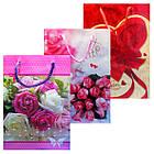 Пакеты Подарочные Пластиковые с Розами HL-E654 17 см * 12 см * 5,5 см (малый), фото 6