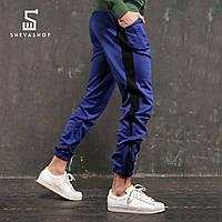 Спортивные штаны с лампасами мужские ТУР Rocky, синие