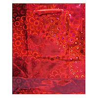 Пакет Подарочный Голографический Красный 14 см * 12 см * 5,5 см (малый)