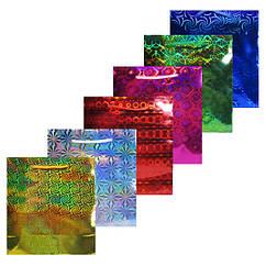 Пакет Подарочный Голографический 18 см * 16 см * 8 см (средние) Упаковкой 12 шт.