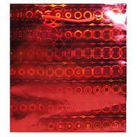 Пакет Подарочный Голографический Красный 18 см * 16 см * 8 см (средние)