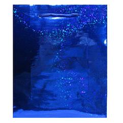 Пакет Подарочный Голографический Синий 21 см * 18 см * 7,5 см (большой)
