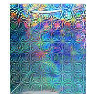 Пакет Подарочный Голографический Серебро 21 см * 18 см * 7,5 см (большой)