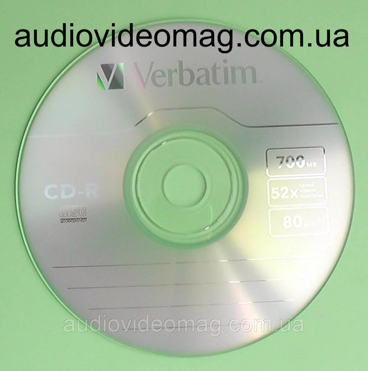 Диск CD-R Verbatim 700 Mb 52x 80min