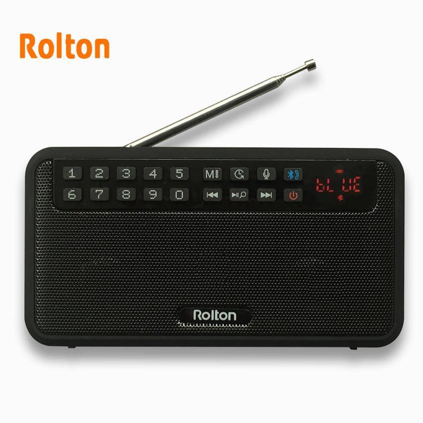 Bluetooth-колонка,Радиоприемник Rolton E500 Black СТЕРЕО(SD,запись,наушники)