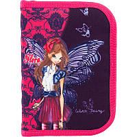 Пенал школьный Kite одинарный с 2 отворотами 622 Winx Fairy couture